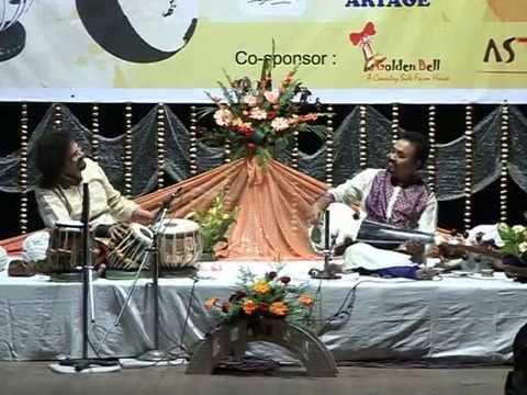 Pt. Amitava Majumdar with Pt. Bickram Ghosh. Raag Hemant.