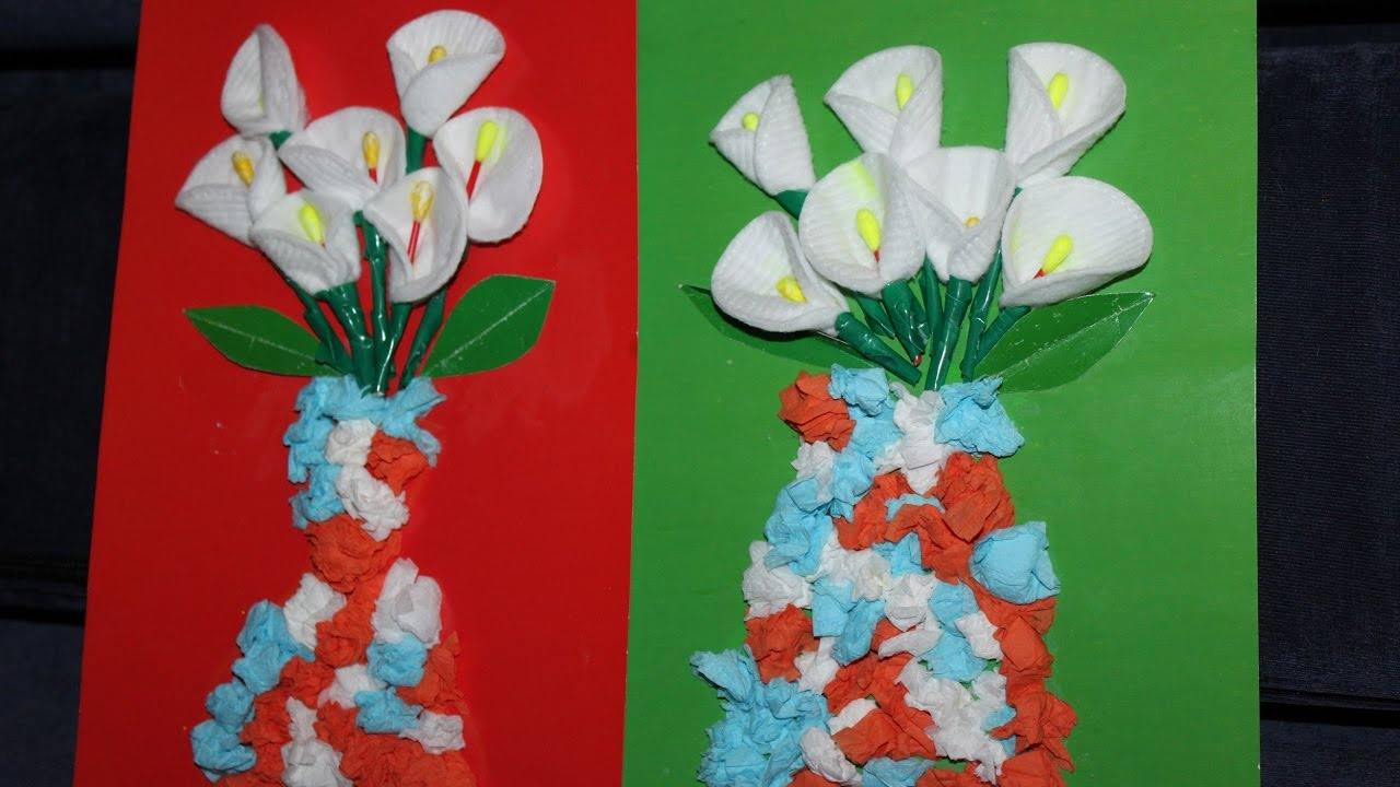 Цветы своими руками и бумаги на палочке своими руками фото 903