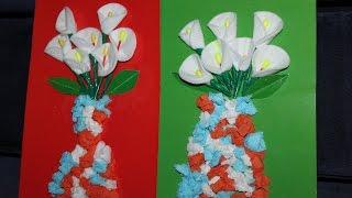 цветы из ватных палочек и дисков для мамы своими руками. Поделки к 8 МАРТА