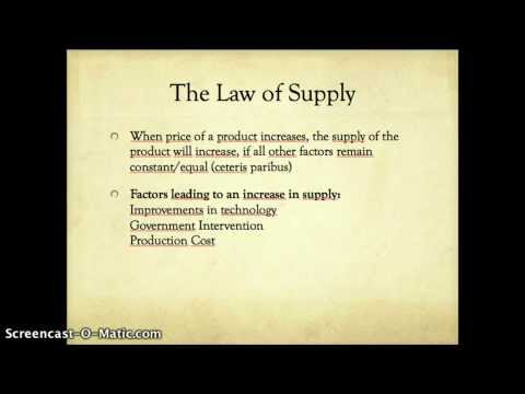 IB Economics Revision - Demand and Supply