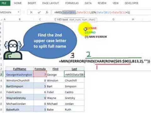 Video 00079 Find the 2nd upper case letter in a name
