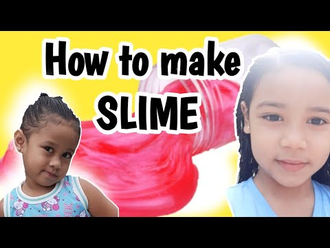 How to make SLIME using CORNSTARCH and DISHWASHING LIQUID SOAP   Vlog#004