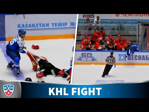 Ryspayev fights the whole hockeyteam! Lifetime ban