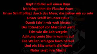 ONE PIECE DAS PIRATEN LIED BINKS RUM DEUTSCH LYRIC