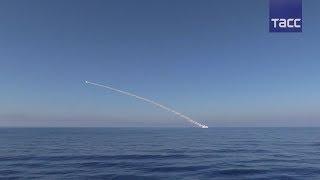 Удар крылатыми ракетами с кораблей ВМФ РФ по объектам ИГ* у Пальмиры