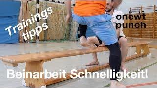 Schnelligkeit und Beinarbeit für Kampfsport mit Hilfe einer Turnbank! Schneller sein als dein Gegner