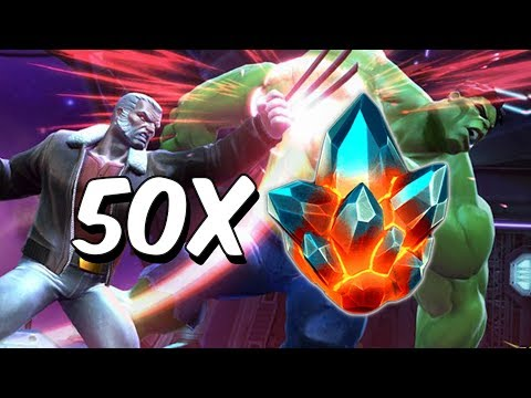 50x Premium Hero Crystal Opening! - Marvel Contest Of Champions