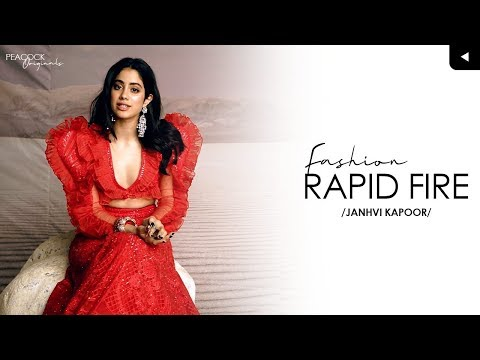 FASHION RAPID FIRE CHALLENGE | JANHVI KAPOOR