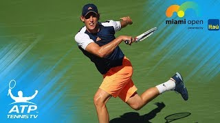 EPIC 36-shot Dominic Thiem vs Borna Coric rally! | Miami Open 2017