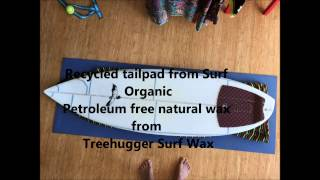 Making a surfboard from upcycled polystyrene boxes
