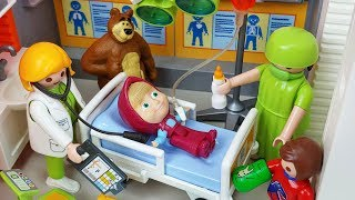 Download Video Masha and Bear PlayMobil doctor and Hospital toys Ambulance car play  - 토이몽 MP3 3GP MP4