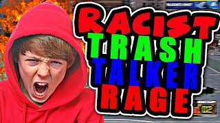 Racist little kid trash talker rage! carried and exposed nba 2k18 part 1