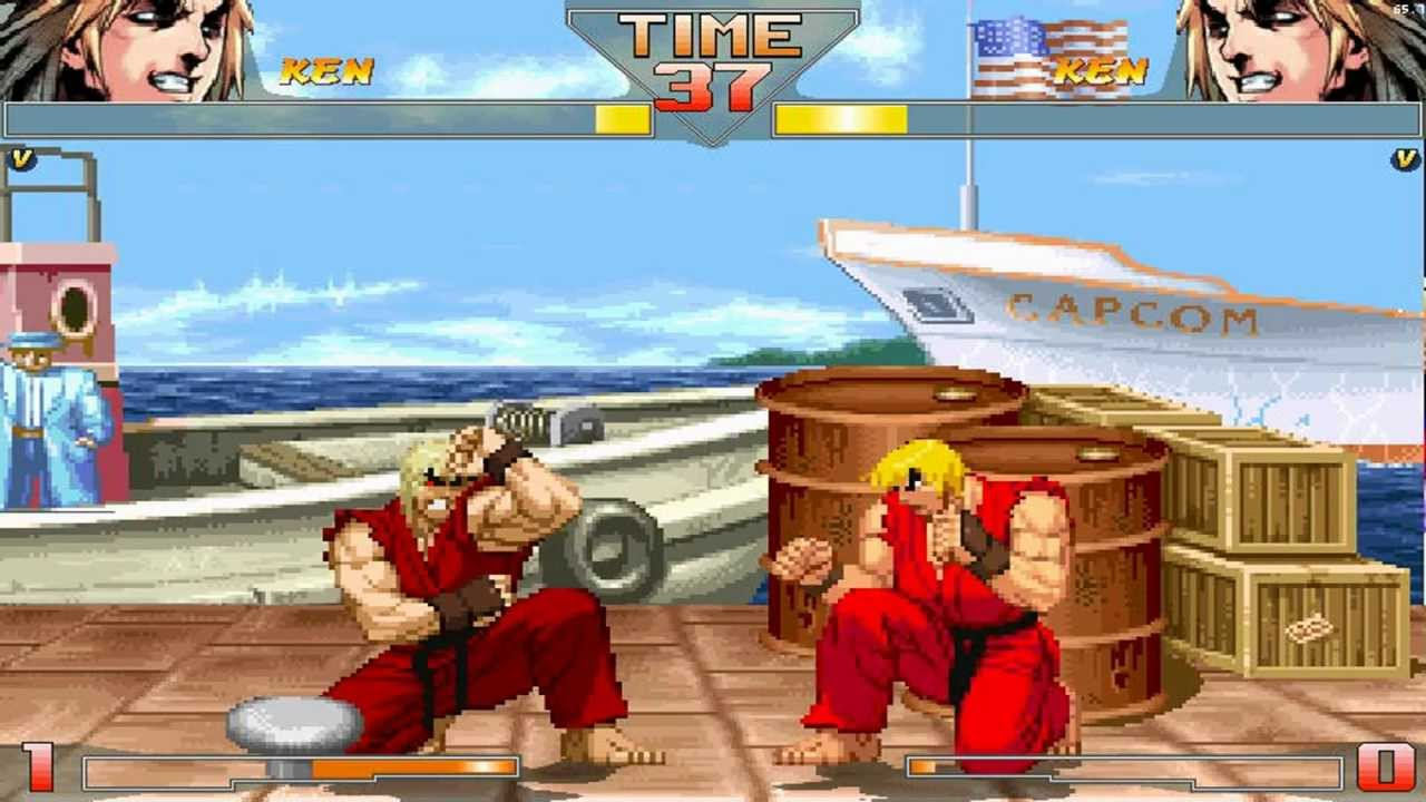 Street Fighter HD Mugen Ken vs Violent Ken Gameplay Footage