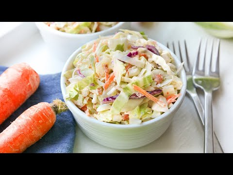 KETO COLESLAW & DRESSING | THE BEST, EASY, LOW CARB COLESLAW RECIPE FOR KETO