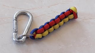 How To Tie A Trinagle Stitch 3 Color Paracord Keychain