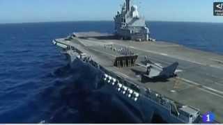 El Charles de Gaulle a pleno rendimiento en Guerra Siria. Es el mejor Portaaviones de Europa.
