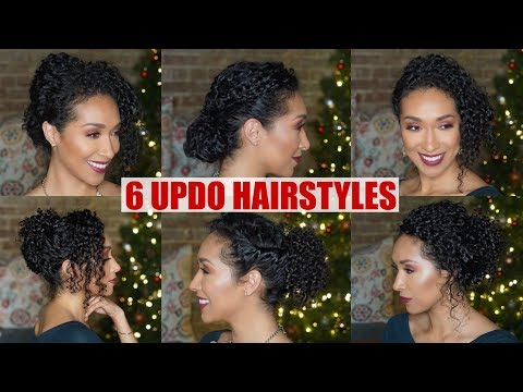 UPDO HAIRSTYLES FOR NATURALLY CURLY HAIR | FORMAL