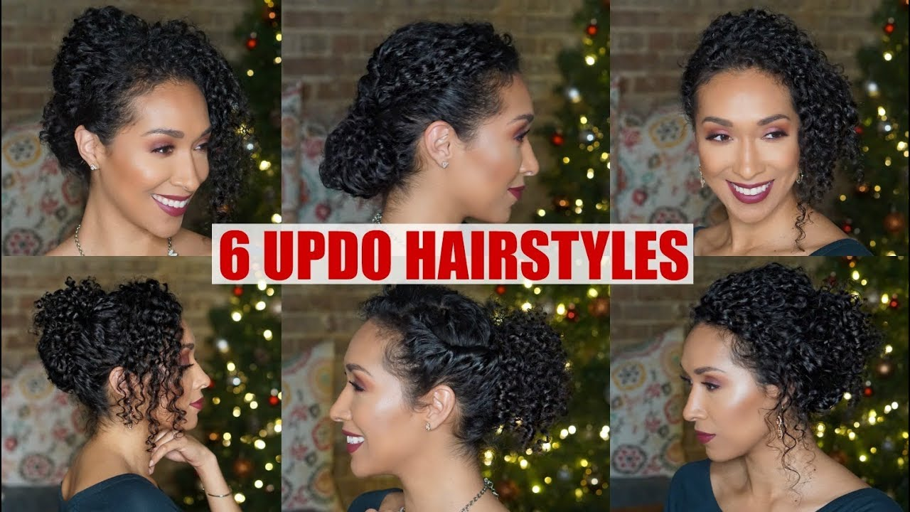 Updo Hairstyles For Naturally Curly Hair Formal Youtube