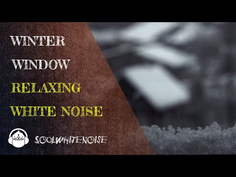 Winter Window Snow Scene | Falling Snow & Crackling Fireplace Sounds