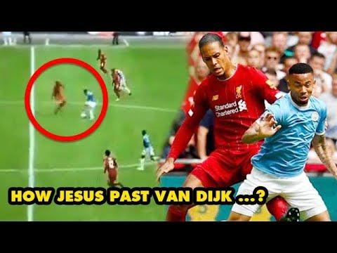 Gabriel Jesus became the first player dribbles past Virgil van Dijk