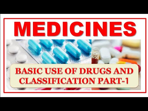 MEDICINES: BASIC USE OF DRUGS AND CLASSIFICATION PART-1 दवाईयों की जानकारी  पूरी जानकारी सरल भाषामें