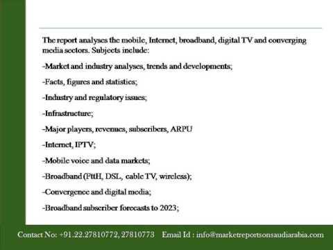 Saudi Arabia   Telecoms, Mobile, Broadband and Forecasts