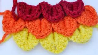 Repeat youtube video How to Crochet * Crocodile Stitch * Scales Stitch