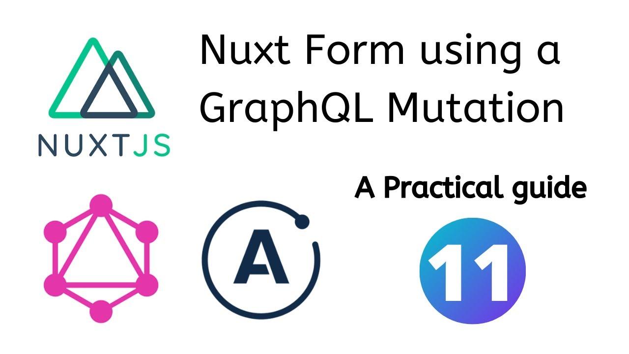 Nuxt.js Form using a GraphQL mutation