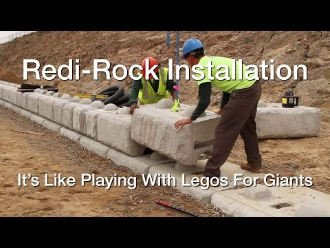 Why Contractors Choose Redi Rock Retaining Walls (Installation Overview)