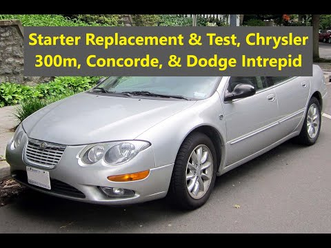 How to replace the starter on a Chrysler 300 m, Concorde, Dodge Intrepid from 1999 to 2004. – VOTD