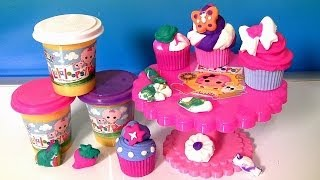 Lalaloopsy Cra-z-cute Cupcakes Playset Softee Dough With Cupcake Stand By Cra-z-art Play Doh