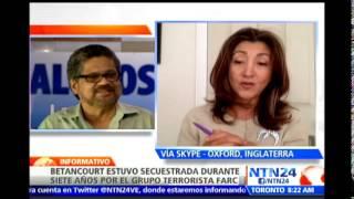 Ingrid Betancourt resalta estrategias de solución entre Gobierno y FARC por secuestro de general