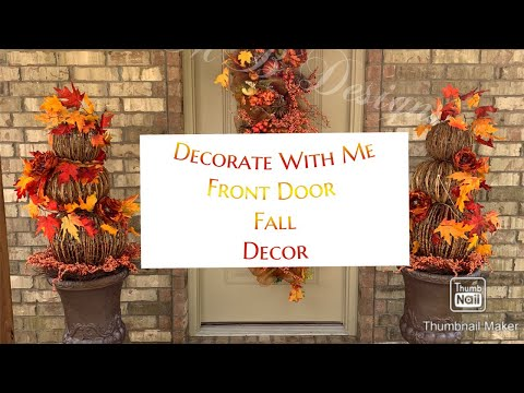 DIY FALL DECOR/ FRONT PORCH REFRESH/ DECORATE WITH ME #falldecor #decoratewithme #tmbdesigns #glam