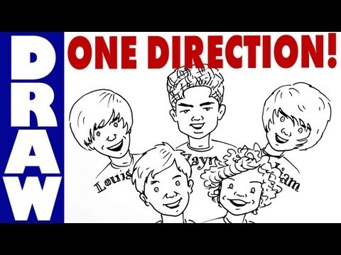 How To Draw One Direction - Cartoon Style