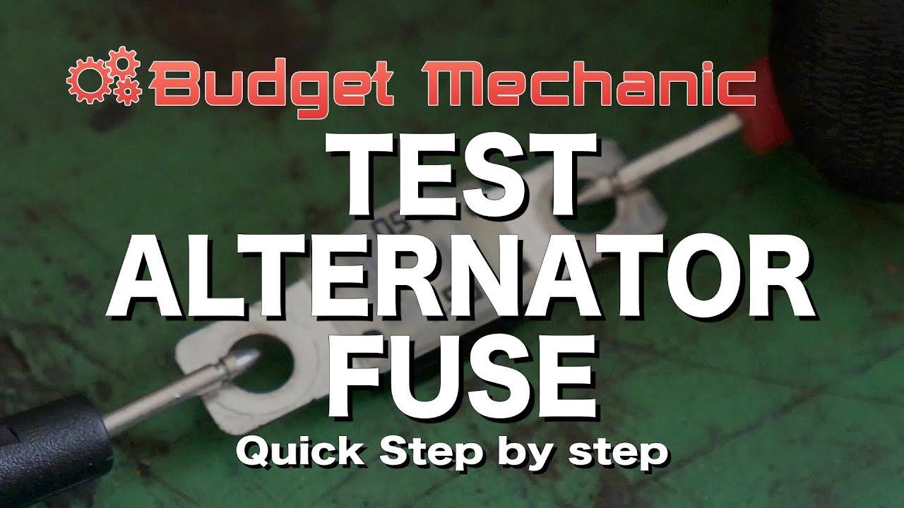 medium resolution of check your alternator fuse