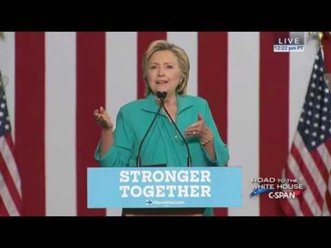 Hillary Clinton In Reno FULL SPEECH. Calls Out Alex Jones & Alt Right 8/25/16