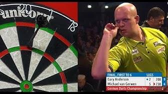 INCREDIBLE DARTS! Michael van Gerwen v Gary Anderson, 2015 German Darts Championship (HD)