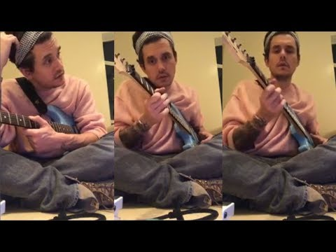 John Mayer Gives Guitar Lessons to his fans   Instagram Live Stream   4 February 2018