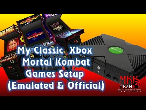 My Xbox Mortal Kombat Games Setup (read description)
