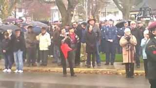 Brighton, Ontario, Canada, Remembrance Day 2015