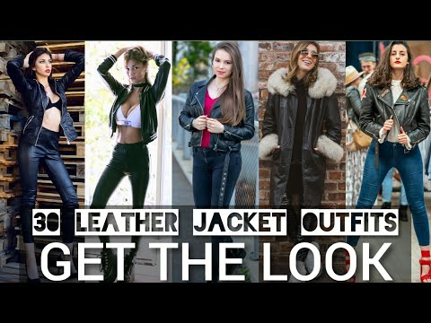 [VIDEO] - TRENDY LEATHER JACKET OUTFIT IDEAS FALL/WINTER | LATEST FASHION TRENDS  WOMEN | AUTUMN LOOKBOOK 2019 9