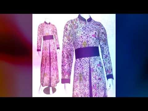 ッ 27 Model Gamis Batik Untuk Orang Gemuk Galeri Batik Terbaru