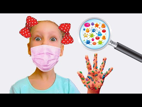 История про Микробы и о том как важно Мыть Руки Wash hands and Germs