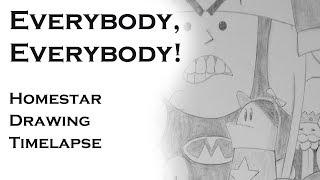 Everybody, Everybody! | Homestar Runner Drawing Timelapse