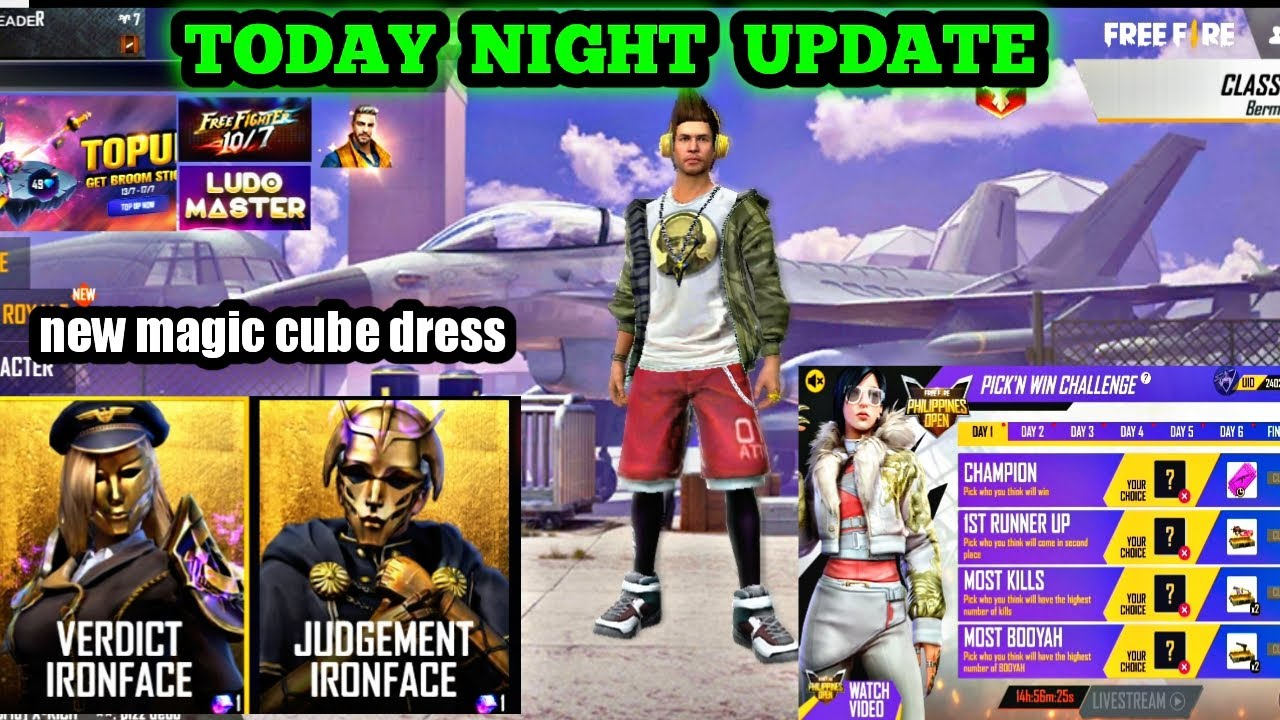 Today night update / new magic cube bundle / free car skin / free lucky royal voucher / in tamil