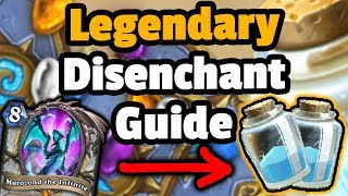 Legendary Card Disenchant Guide - Hearthstone Descent Of Dragons