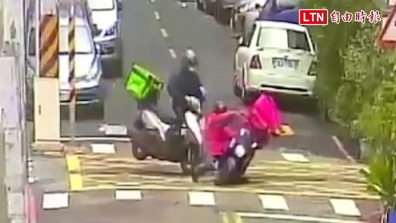 吳柏毅撞上傅潘達!兩美食平台外送員騎車碰撞都受傷