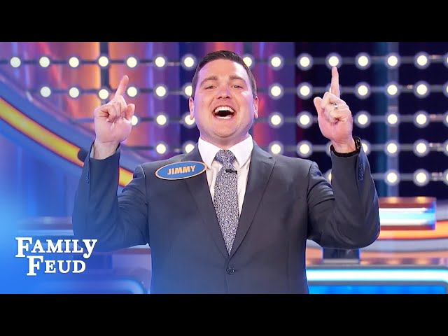BANG! Jimmy smashes Fast Money! | Family Feud