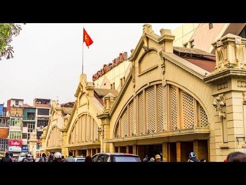 Shopping in Hanoi : Dong Xuan Market Vietnam