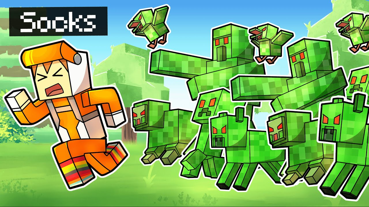 minecraft but EVERYTHING IS A CREEPER